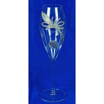 Подарочный набор бокалов для шампанского королевский цветок