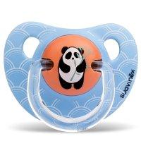 Пустышка suavinex от 6 мес., оранж.панда