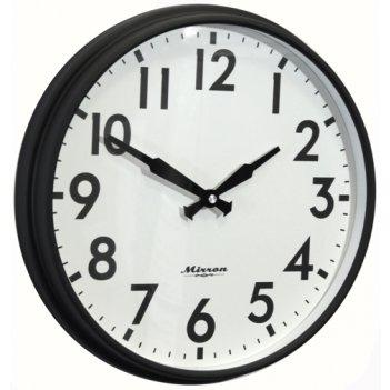 Настенные черные часы mrn 3086a chb