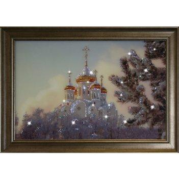 Картина сваровски - храм