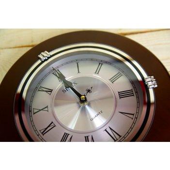 Настенные часы sinix 1018sr с механизмом плавного хода