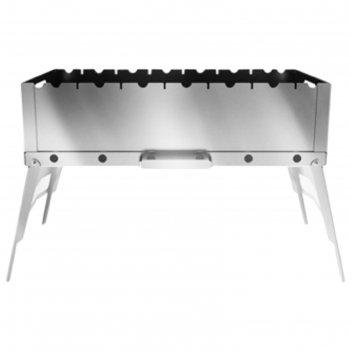 Мангал складной optimus plus stainless, нержавеющая сталь, 57 х 28 х 35,5