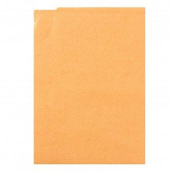 Фетр персиковый, мягкий, 1 мм, 20х30 см, 10 листов
