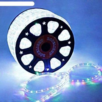 Led шнур 13 мм, круглый, 100 м, фиксинг, 2w-led/м-36-220v. в компл. набор