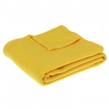 Плед collorista жёлтый 150*200 см, 100% п/э, флис, 140 гр/м2