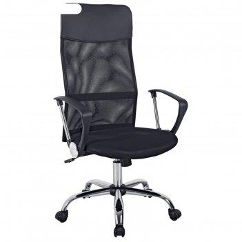 Кресло руководителя helmi hl-e16 content, ткань/сетка/экокожа черная, хром