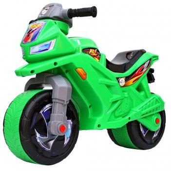 Ор501в6 каталка-мотоцикл беговел racer rz 1, цвет зеленый