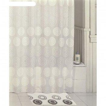 Штора для ванной комнаты 200х200 см, chequers, white