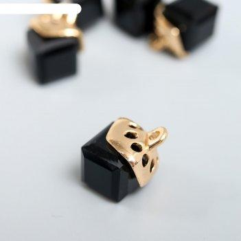 Декор для творчества стекло куб-кристалл чёрный набор 5 шт 0,8х0,8 см
