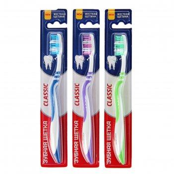 Зубная щётка rendall classic, жёсткая, 1 шт. микс