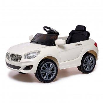 Электромобиль «купе», с радиоуправлением, свет и звук, цвет белый