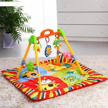 Развивающий коврик с игровой стойкой «друзья», с музыкальной игрушкой