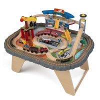 Игровой набор транспортный хаб, 58 элементов, стол