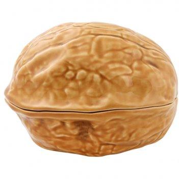 Блюдо сервировочное с крышкой bordallo pinheiro орехи. грецкий орех 15см