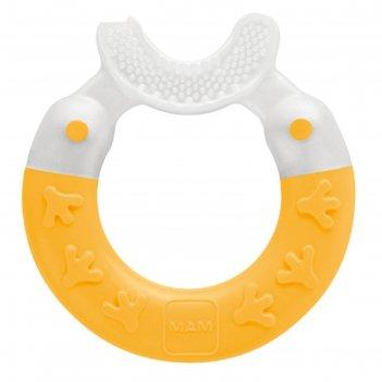 Прорезыватель для зубов bite   brush, цвет жёлтый, от 3 мес.