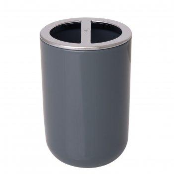 Стаканчик для зубных щеток alba grey, пластик