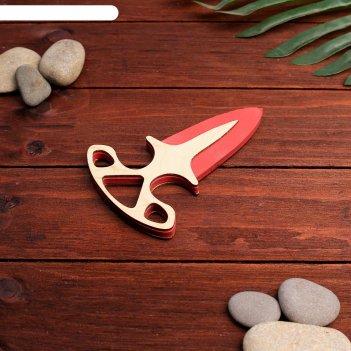 Сувенирное оружие нож тычковый, цветной,13х9 см