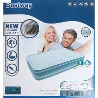 Надувной матрас comfort cell techtm 203х152х36 см со встроенным насосом (6