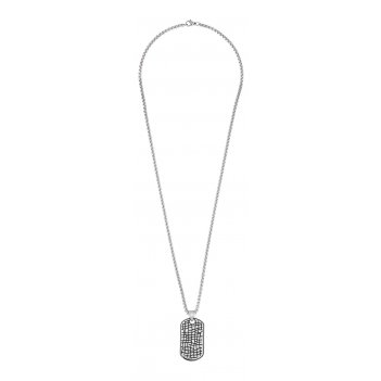 Подвеска zippo, серебристая, в форме военного жетона, с цепочкой 60 см, ст