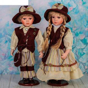 Кукла коллекционная парочка голландцы в наборе 2 шт