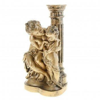 Статуэтка девушка с ангелом бронза