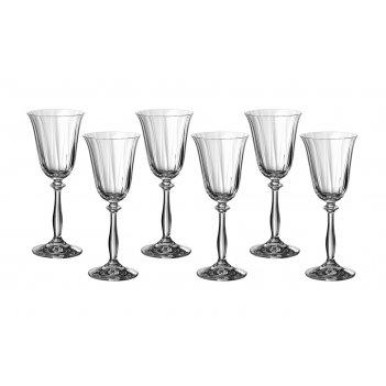 Набор бокалов для вина из 6 шт.анжела оптик 185 ...