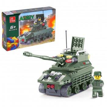 Конструктор армия штурмовой танк, 163 детали