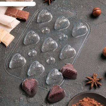 Форма для шоколада шоко-клубника