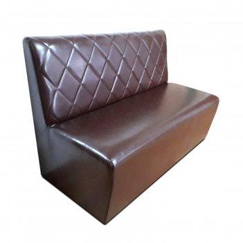 Диван «лайт р», 1200 x 640 x 860 мм, экокожа, цвет коричневый