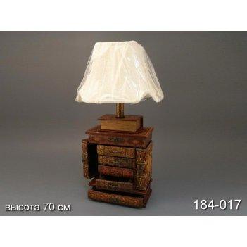 Мини-тумба светильник с абажуром  высота=68 см.е27...