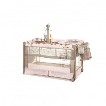 Манеж-кроватка noony cubby, pink lady