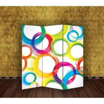 Ширма цветные круги, 160 x 150 см