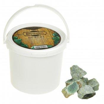 Камень для бани нефрит, колото-пиленный, добропаровъ, ведро 5кг, фракция 6