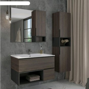 Шкаф-колонна comforty «франкфурт-40», дуб шоколадно-коричневый