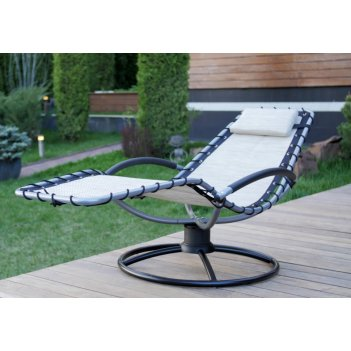 Кресло шезлонг качалка флэт цвет белый