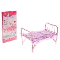 Кроватка для куклы, металлическая
