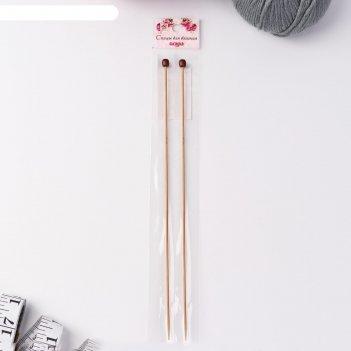 Спицы для вязания, прямые, d = 2 мм, 25 см, 2 шт