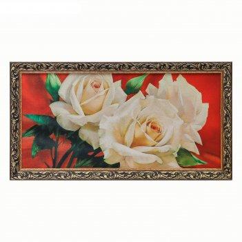 Гобеленовая картина букет роз 45*85 см