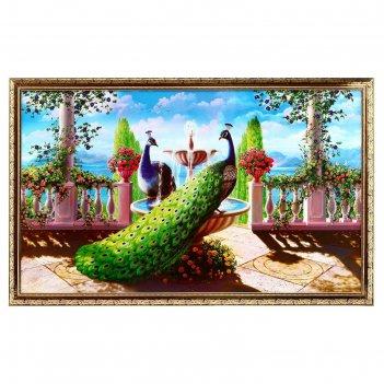 Картина два павлина 66х106см
