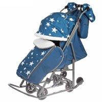 Санки-коляска pikate звезды, цвет: аквамарин
