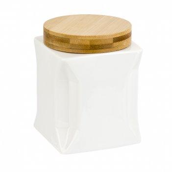 Банка для сыпучих продуктов (с бамбуковой крышкой) naturel 11*11*14см. v=1