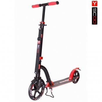 Самокат y-scoo rt 230 slicker deluxe new technology с амортизатором red