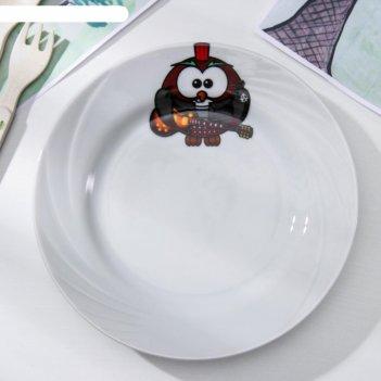 Тарелка мелкая «совушки», 17,5 см