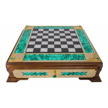 Шахматы малахит  златоуст