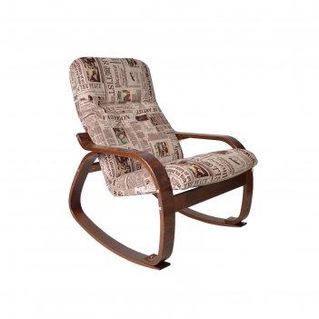 Кресло-качалка сайма ткань gazeta 09/каркас вишня