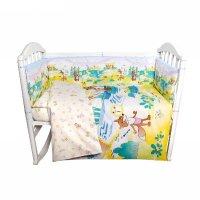 Комплект в кроватку колобок, 6 предметов, цвет жёлтый, хл100% 125 г/м h713