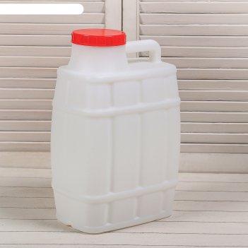 Канистра пищевая «бочонок», 15 л, горловина 11.4 см, белая