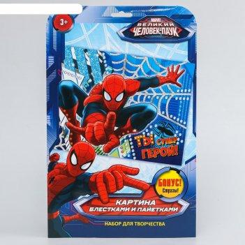 Аппликации ты супер герой человек паук + пайетки, блестки, стразы