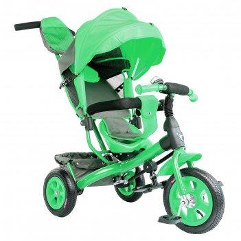 Велосипед трёхколёсный «лучик vivat 1», надувные колёса 10/8, цвет зелёный