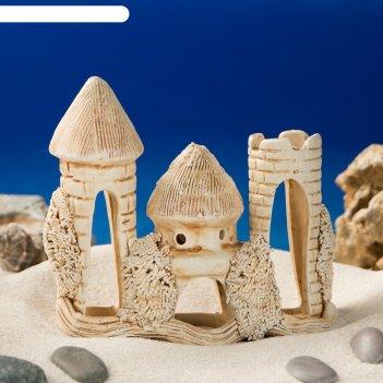 Аквадекор-грот для аквариума м68 замок малый
